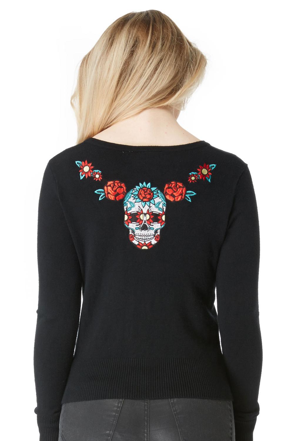 Mexican Skull & Florals Cardigan