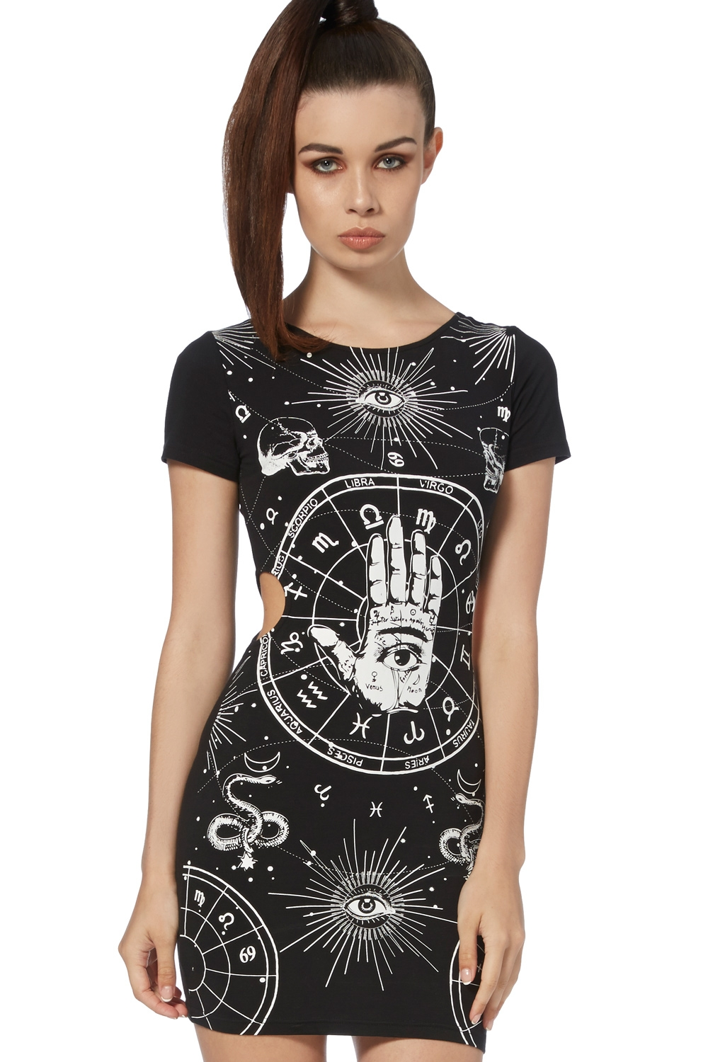 68a68991968 Occult Cut-Out T-Shirt Dress