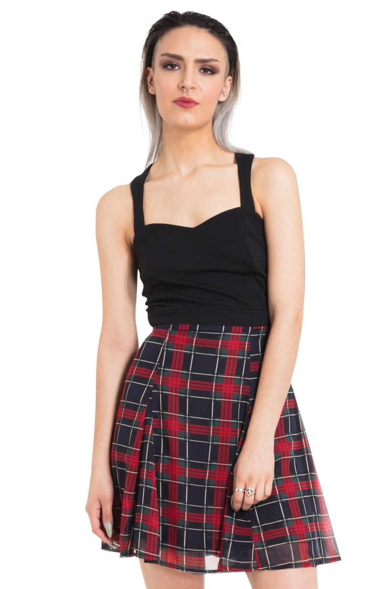 8fb52dc9b Tartan Overlay Dress | Alternative Clothing Store for Gothic, Punk ...