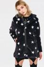 Starry Eyes Faux Fur Coat - Alternative Fashion