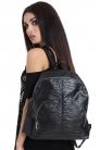 Spineless Backpack with Skull Zipper