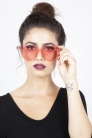 Lonely Heart Sunnies in Pink
