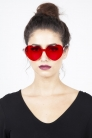 Lonely Heart Sunnies in Red