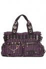 Handcuffs Purple Striped Bag