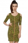 Neon Leopard Fitted Dress