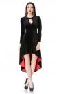 Immortal Velvet Keyhole Dress
