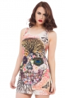Deadly Momento All Over Print Skull Dress