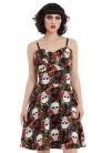 Fifi Skull & Roses Lace Insert Dress