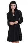Dotted Mesh Little Black Wednesday Dress