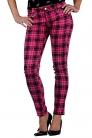 Tartan Drainpipe Jeans Pink