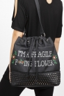 Fragile Flower Drawstring Bag