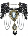 Gothic Cameo Lace Choker