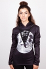 Skull In the Moon Fitted Hoodie