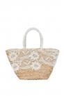 Lace Wicker Bag