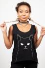 Salem Grumpy Kitty Vest Top