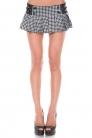 Houndstooth Micro Skirt