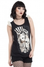 Cirque Du So-Goth T Shirt with lace shoulder