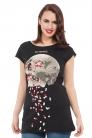 Be Careful Lace & Slash Back T-Shirt
