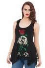 Reborn Skull & Rose Vest