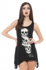 Do No Evil Lace Up Back Vest