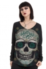 Sketchy Skull Long Sleeved Top