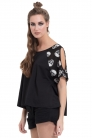 Skull Flutter Sleeve Top