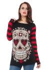Sugar Skull Sour Red Stripe Sweatshirt