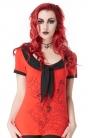 Creepy Seahorse Sailor Red Top