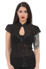 Madame of the House Keyhole Neckline Top