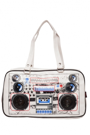 Boombox Yankee White Bag