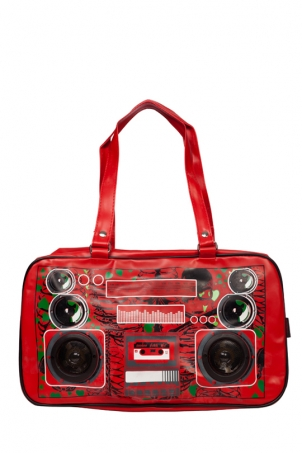 Boombox Zombie Red Bag
