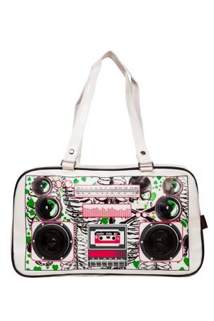 Boombox Zombie White Bag