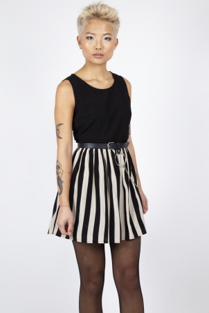 Circ Le Soir Striped Skater Dress