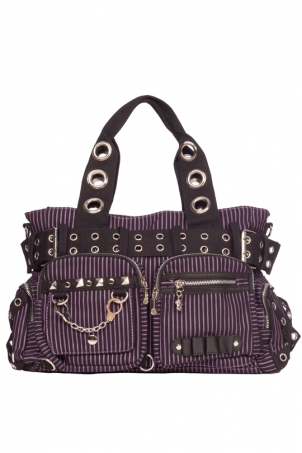 Handcuffs Purple Striped Bag