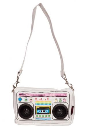 Boombox Messenger Bag White