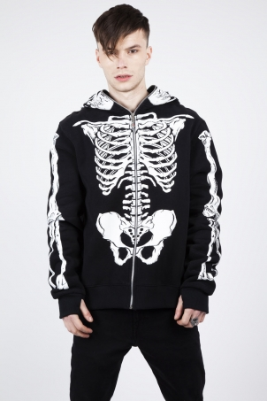 Demon Skeleton Full-Face Hoodie