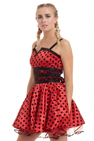Ladybird Polkadot Flare Dress