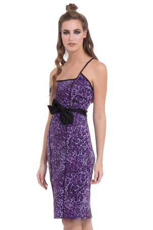 Leopurple Pencil Dress