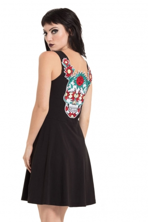 Sneaky Skull Embroidered Dress