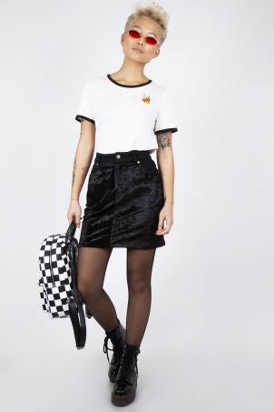 Glam Rock Velvet Mini Skirt