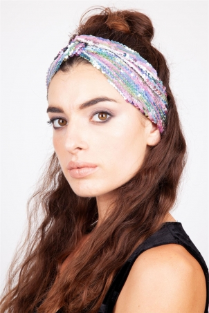 Pastel Sequin Twist Headband