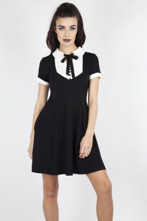 In A Mood Tie Neck Dress