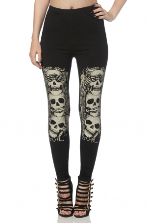 Peekaboo Skull Leggings
