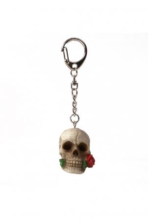 Date Night Skull Keyring