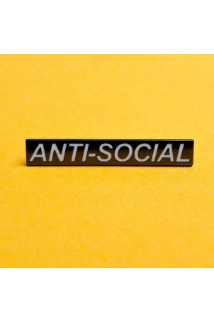 Anti-Social Enamel Pin