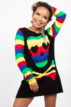 Rainbow Skull Sweater