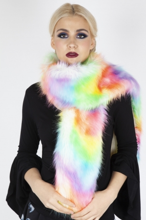 Lucy In Demise Faux Fur Stole