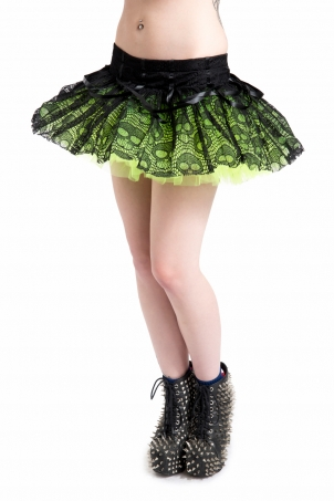 Ghoul Tutu Green Mini Skirt