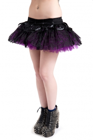 Ghoul Tutu Purple Mini Skirt