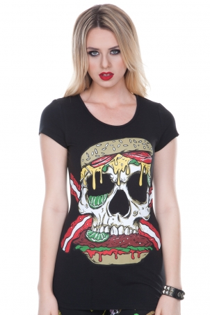Twisted Burger Cut-out Shirt